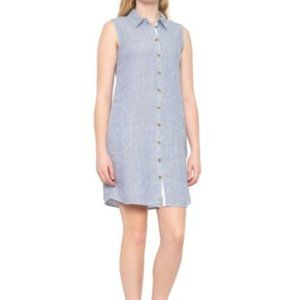 Button-down Collared Short Casual Dress